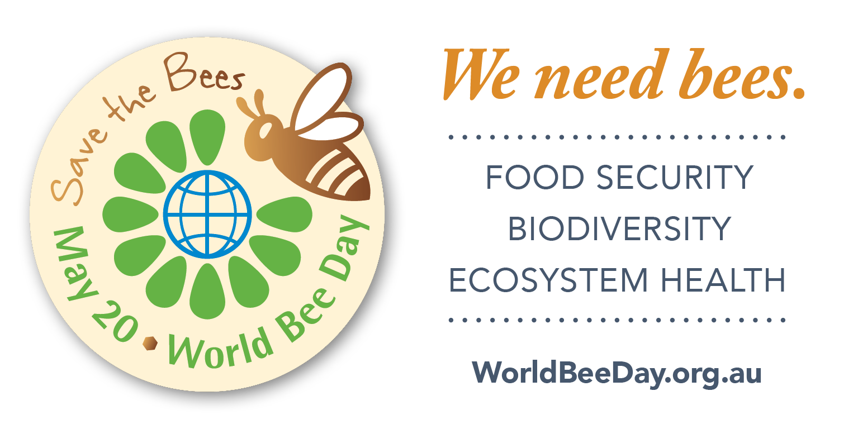 We need bees. World Bee Day